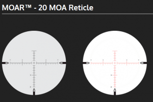 NightForce MOAR 20 MOA Reticle