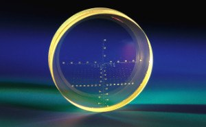 glass etched illuminated reticle