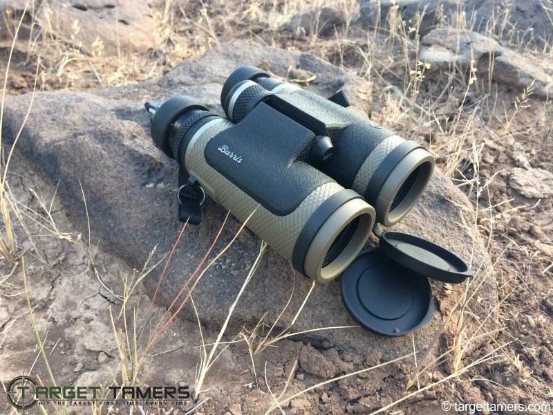 Burris Binoculars Photographed on a Rock
