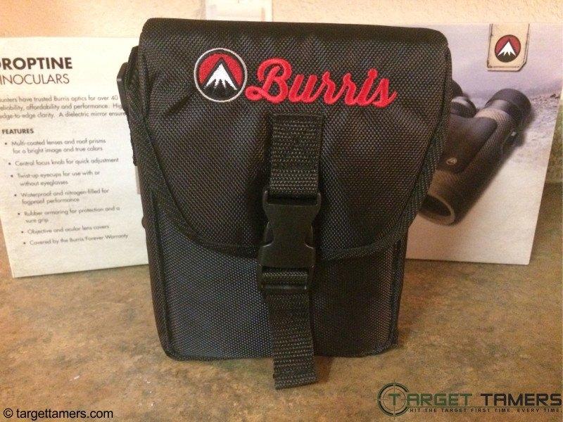 Burris binoculars in carry case