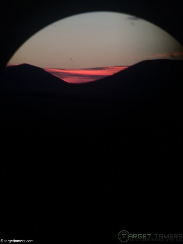 Picture of Sunrise through binocular with little light available