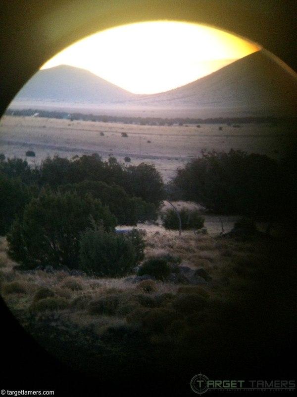 Same sunrise, same spot, more light available as sun rises