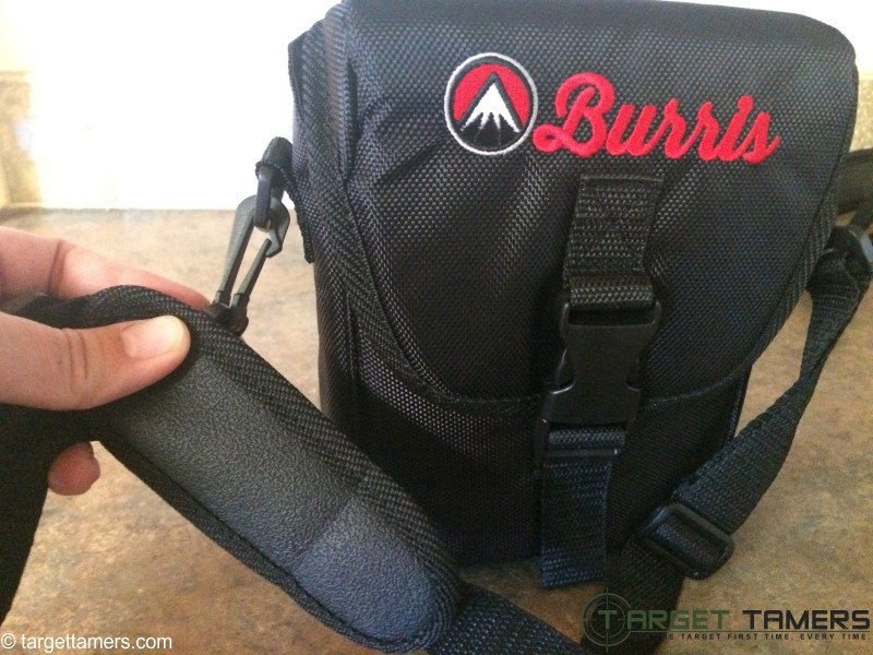 Neoprene neck strap on Burris binocular carry case