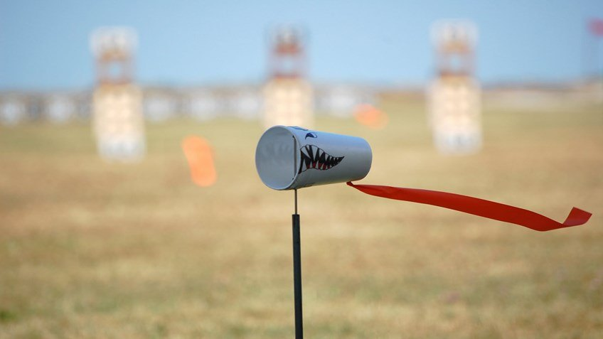 Flag on Shooting Range Showing Wind Direction