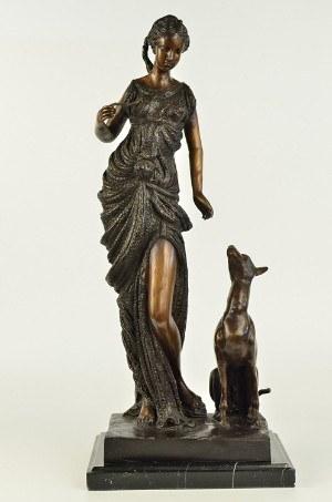 Handmade European Bronze Sculpture Diana