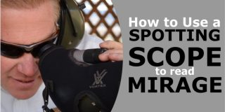 Using a Spotting Scope to Read Mirage and Estimate Wind Velocity