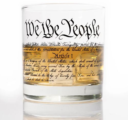 We The People Whiskey Glass