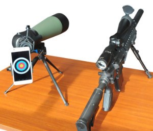 Gosky spotting scope set up for target shooting