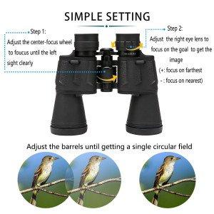 Adjusting Bfull 12x50 binoculars