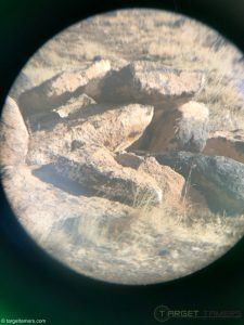 Photo of a pile of large rocks taken through Anzazo binocular