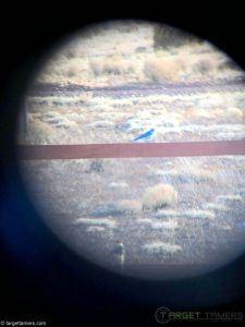 Photo of a bird on a fence taken through Anzazo bino