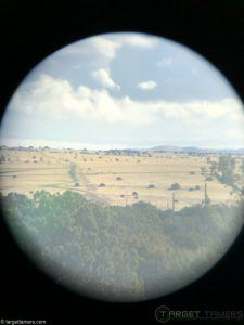 Photo of countryside taken through 8x21 binocular
