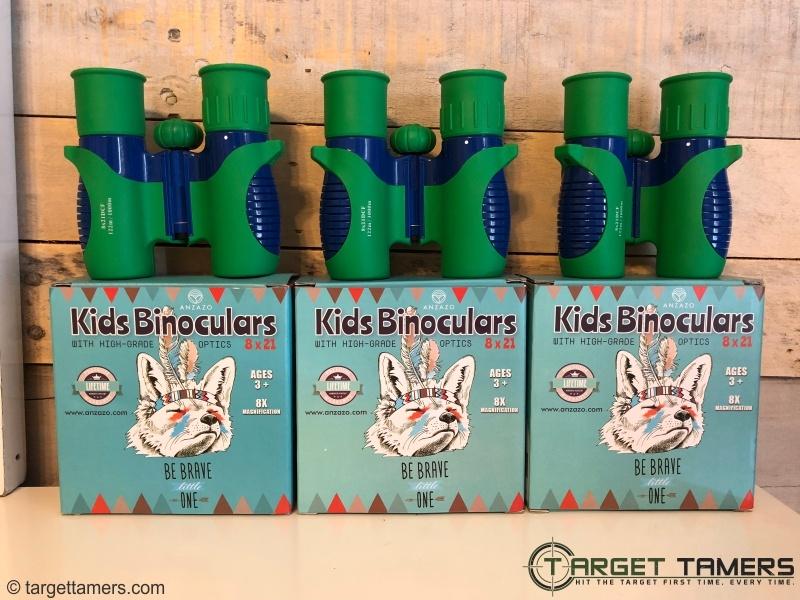 Anzazo Kids Binoculars and their packaging