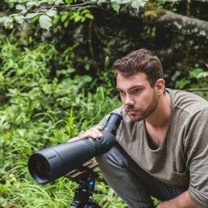 Man using Zeiss Harpia spotting scope