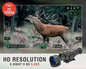 ATN X-Sight HD focused on Animal
