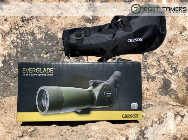 Carson packaging and case for Everglade scope