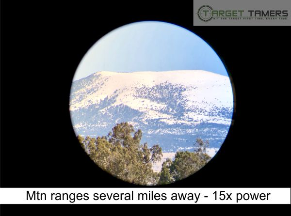 Photo of Mountain Ranges taken at 15x power through Carson spotting scope