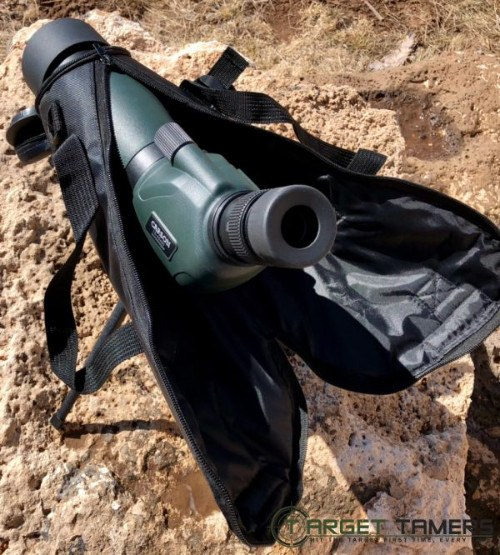 Demonstration of the case being used on Carson SS-560 spotting scope