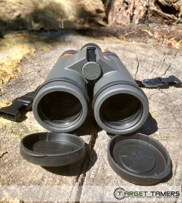 Lens caps on the Maven C1 10x42
