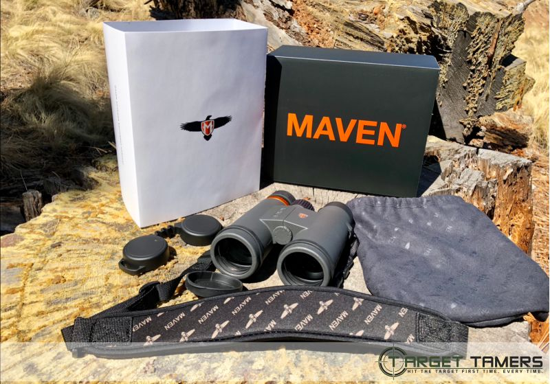 Contents of Maven C1 binocular box purchase