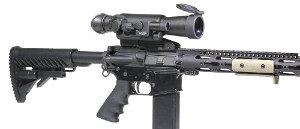 Firefield FF16001 Night Vision Scope mounted on gun