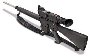 NightShot NV Rifle Scope Mounted on Gun