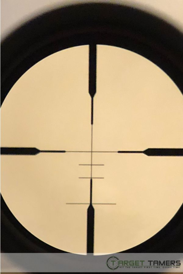 SHR reticle on RS.1 by Maven - in focus