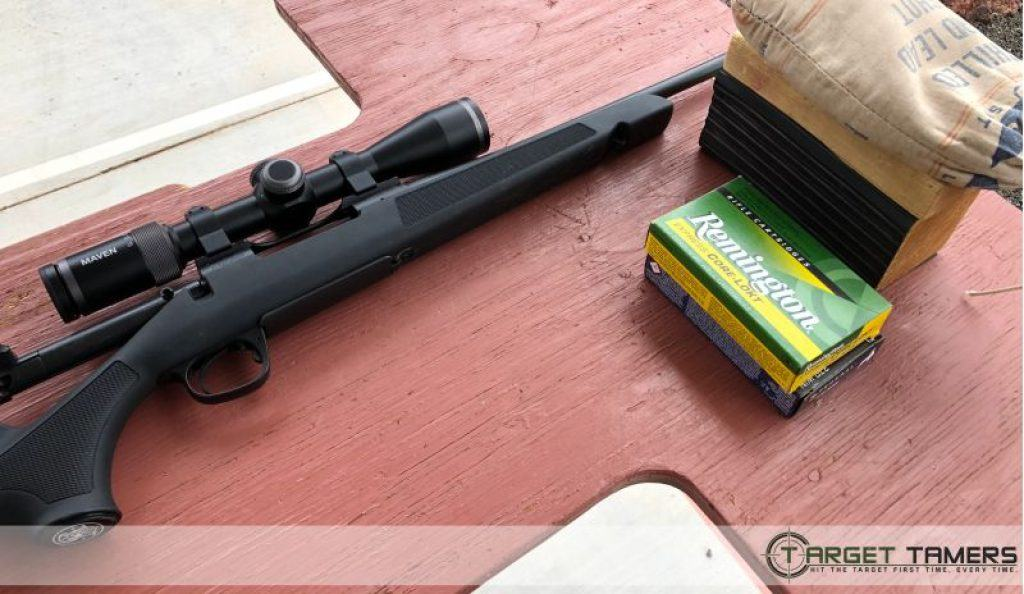 Smith&Wesson 270 rifle with Maven RS.1 scope attached