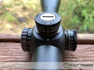 Close up of turrets on Maven RS.1 rifle scope