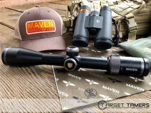 Pic of Maven themed buff with scope, binoculars and cap