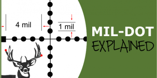 Understanding & Using a Mil-Dot Reticle Scope (in Easy English)