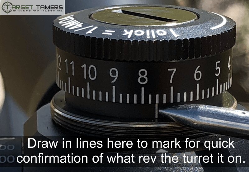 Marking Your Turret for Quick Confirmation of Which Rev it is On
