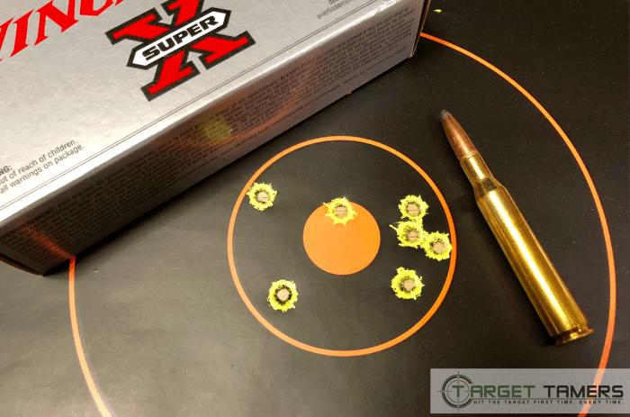 Bullet groupings at 100 yards