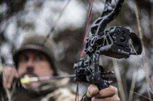 Hunter with Burris Oracle Bow Sight on his Bow