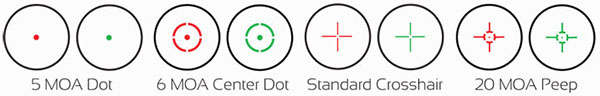 Red Dot Reticles and Colors