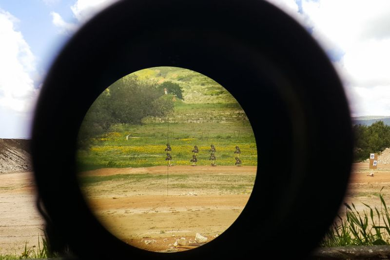 Looking Through a Long Eye Relief Rifle Scope