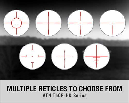 ATN ThOR HD 384 Smart Thermal Riflescope Reticle Options