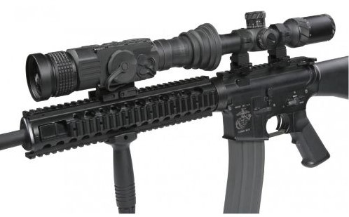 AGM Anaconda TC50 640 mounted on a rifle