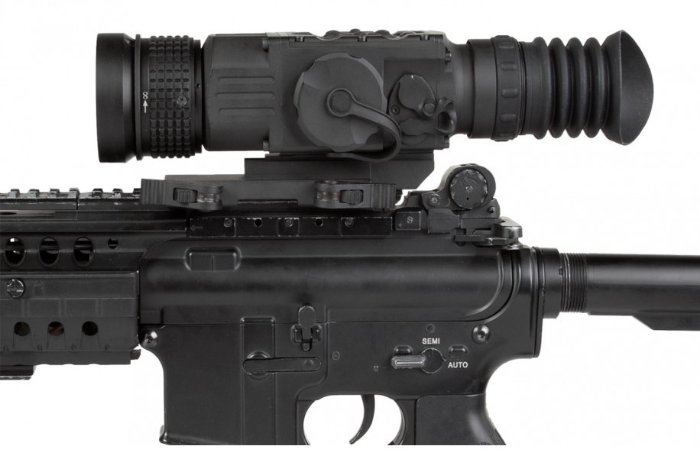 AGM Python TS50-640 thermal scope mounted on rifle