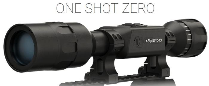 ATN X-Sight LTV 5-15x night vision riflescope showing one shot zero