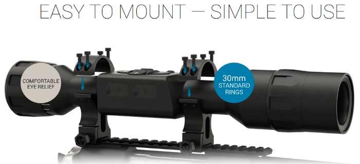 ATN X-Sight LTV 5-15x showing easy to mount