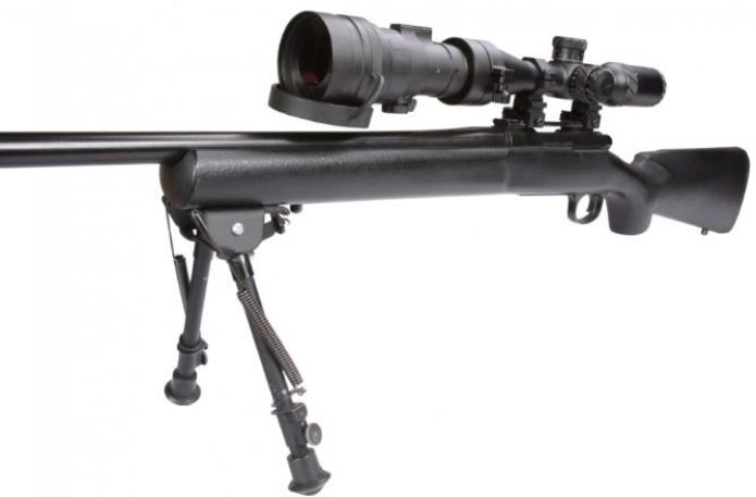 Comanche-22 NL3 Clip on Night Vision Scope mounted to a Rifle