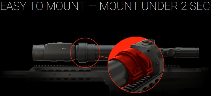 Mounting ATN TICO LT 320 thermal scope