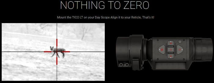 TICO LT 320 35mm clip on thermal scope by ATN