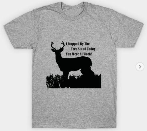 TeePublic Funny Deer Hunting Treestand T-Shirt