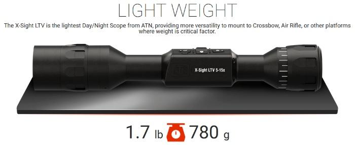 X-Sight LTV 5-15X night vision scope weight