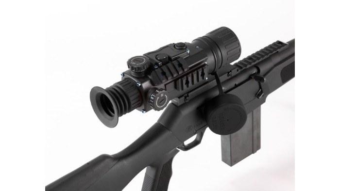 Bering Optics Trifecta night vision scope mounted on rifle
