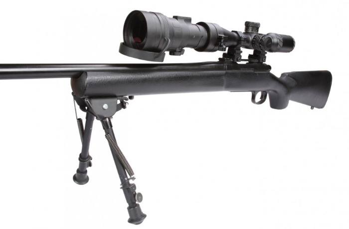 AGM Comanche 22 3NW1 Night Vision Clip on Scope Mounted to Rifle