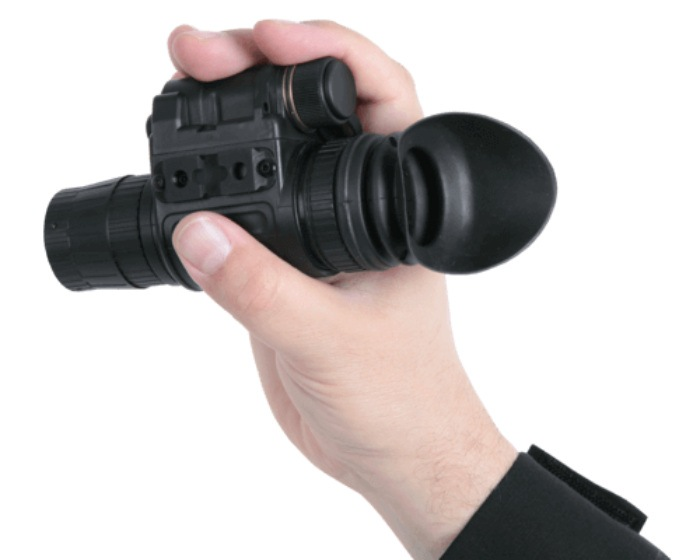 ATN NVM14-4 Night Vision Monocular being hand held