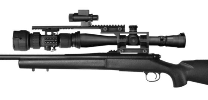 ATN PS28-WPT Digital NV Scope Mounted to Rifle